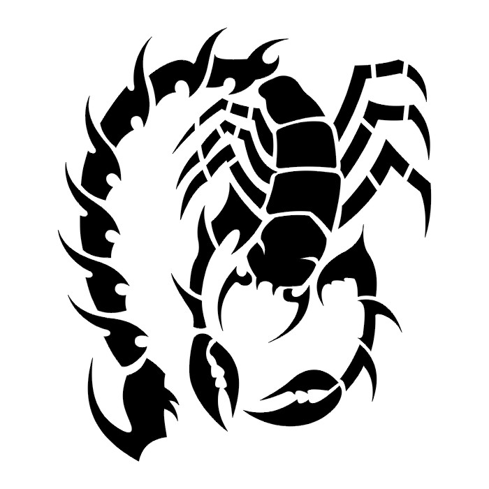 Scorpion Tattoo Stencils